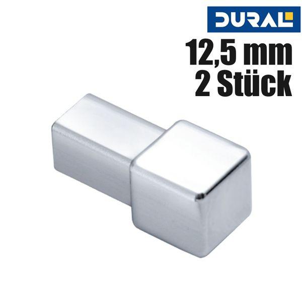 DURAL Squareline DPSE 125-Y Ecke Edelstahl Natur 12,5 mm 2 Stk./Set