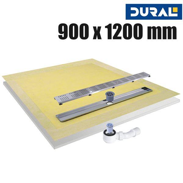 Tilux Line TLL 90-120 Duschelement Set Linienablauf 90 x 120 x 4,5 cm