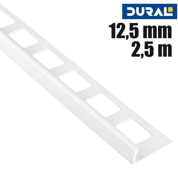 DURAL Classic CL 1201 Fliesen Winkelprofil PVC Weiß 12,5 mm 2,5 m