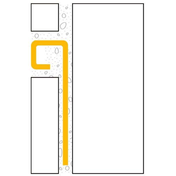 ULTIPRO Quadratprofil Edelstahl V2A Gebürstet 8 mm 2,5 m
