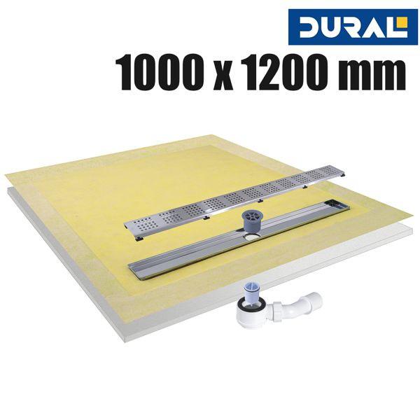 Tilux Line TLL 100-120 Duschelement Set Linienablauf 100 x 120 x 4,5 cm