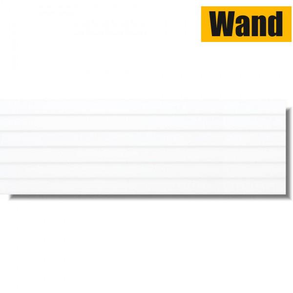 Lamelle Weiß Glänzend 30 x 90 Rektifiziert