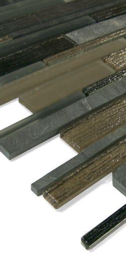 Glas-Naturstein Mosaik LAS315 Beige Grau