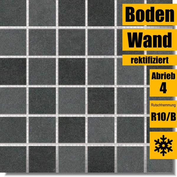 Mosaik schwarz Extra 30 x 30 DDM06725 für Küche und Bad