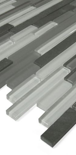 Glas-Naturstein Mosaik GS19-RL Grau Mix
