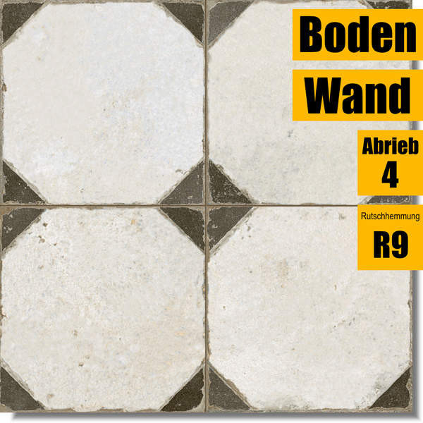 Bodenfliese FS Yard Black schwarz 26173 für Küche und Bad