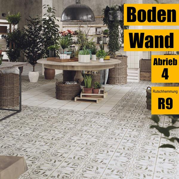 Blumendekor für Wand und Boden von Peronda