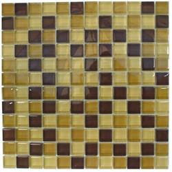 Glasmosaik Beige-Braun-Mix 2,3 x 2,3