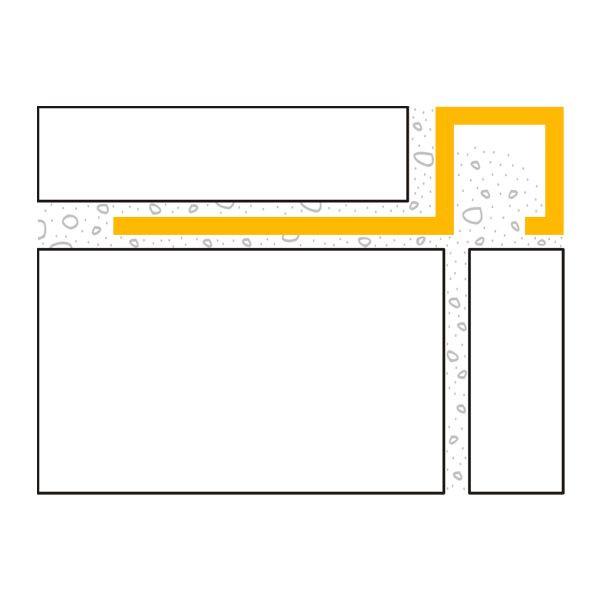 DURAL Squareline DPSA 1062 Quadratprofil Aluminium Silber Glänzend Eloxiert 10 mm 2,5 m