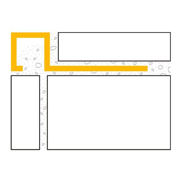 DURAL Squareline DPSAE 110 Quadratprofil Aluminium Natur Eloxiert 11 mm 2,5 m