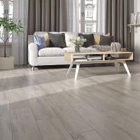 Fliese Holzoptik Eco Wood Grey grau 20 x 120 rektifiziert