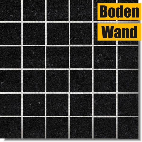 Jumeirah Schwarz Poliert Mosaik 30 x 30 JRB rektifiziert