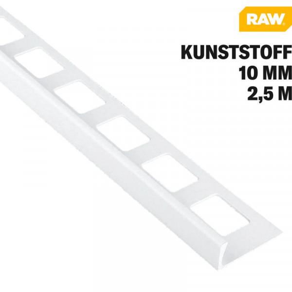 Winkelprofil PVC Weiß von RAW