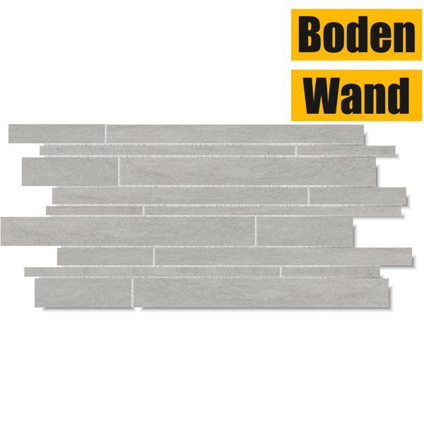 Ardezya Quartz Grey Stäbchenmosaik 30 x 58,6 Rektifiziert