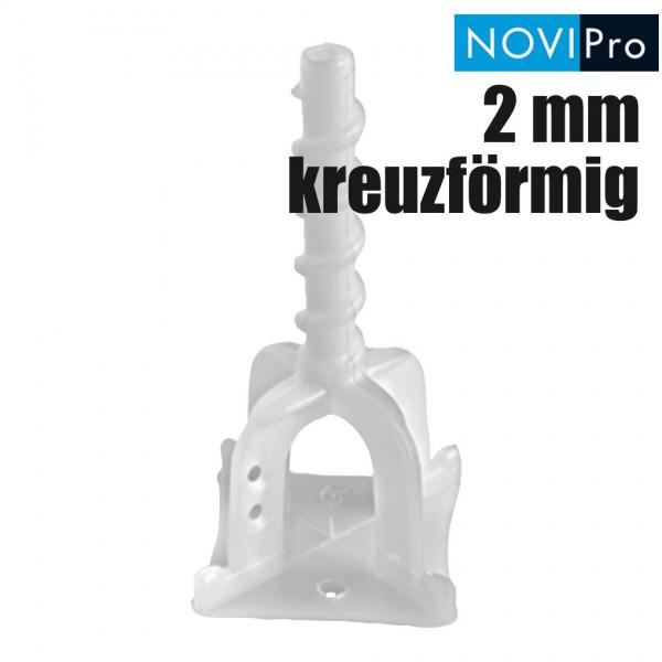 NOVIPro Nivelliersystem PRSC 2 mm kreuzförmig 100 Stück