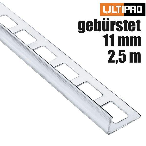 ULTIPRO Winkelprofil Edelstahl V2A Feinschliff 11 mm 2,5 m