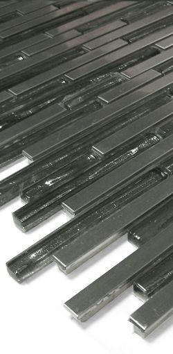 Glas-Metall Mosaik LAG58-2 Silber