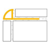 ULTIPRO Rundprofil PVC Weiß 8 mm 2,5 m