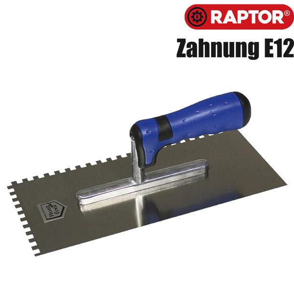 Glättekelle mit Zahnung E12 (12 x 12) von RAPTOR