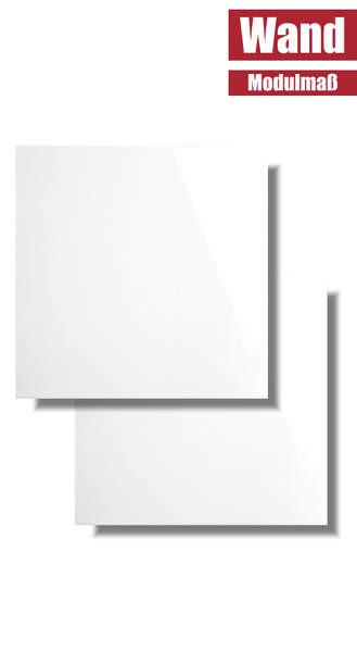 Wandfliese weiß glänzend 15 x 15 Modulmaß WAA19000