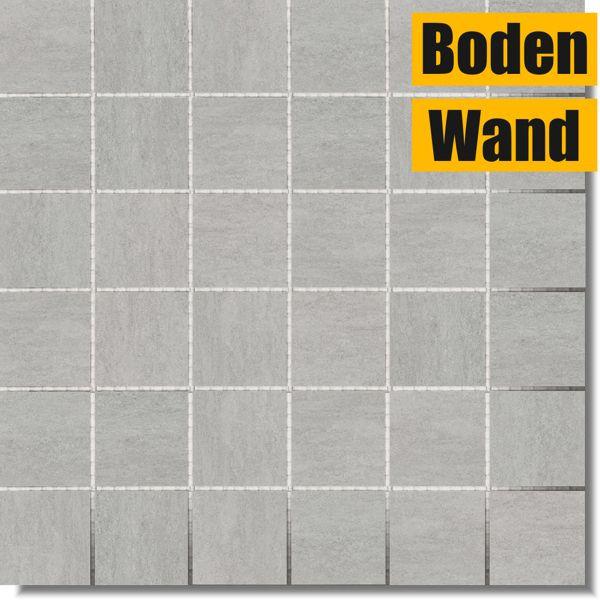 Ardezya Quartz Grey Mosaik 30 x 30 Rektifiziert