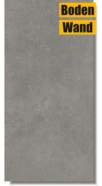 Luna Cool Grey grau semi lappato 30 x 60 rektifiziert